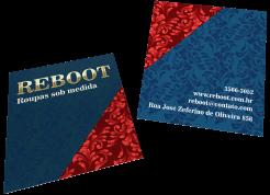 cartão duplo hot stamping