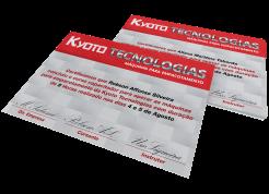 certificado com impressão de dados variáveis